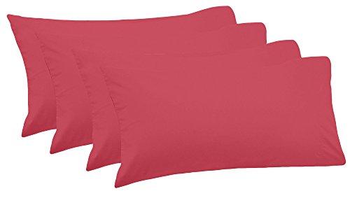 CASA COPENHAGEN Exotic 4 pack Egyptian Cotton 800TC 20inch x 30inch Pillowcases, Multicolor (800tc Pillowcases)