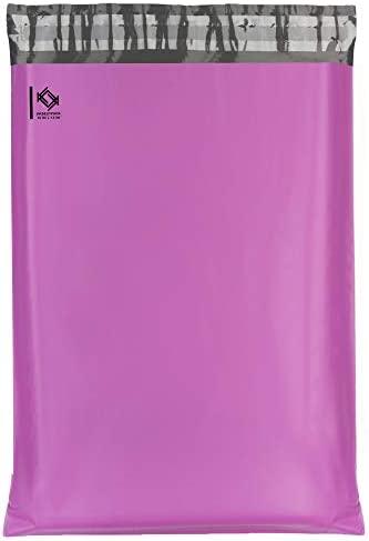 KKBESTPACK 100 PCS 10x13 Shipping Bags Pink Poly Mailers Waterproof Bag Self Sealing Shipping Envelopes Plastic Bags (GT83Y)