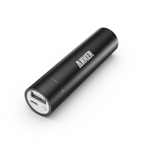 Anker Astro Mini 3000mAh Ultra-Compact Portable Charger Lipstick-Sized External Battery Power Bank Pack for most Smartphones and other USB-charged devices (Apple Adapters- 30 pin and Lightning, NOT Included) - Black