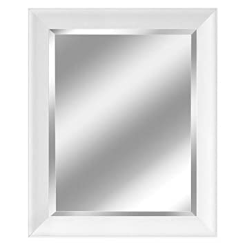 head west contemporary white frame mirror 28 12 by 34 1 - White Framed Mirrors