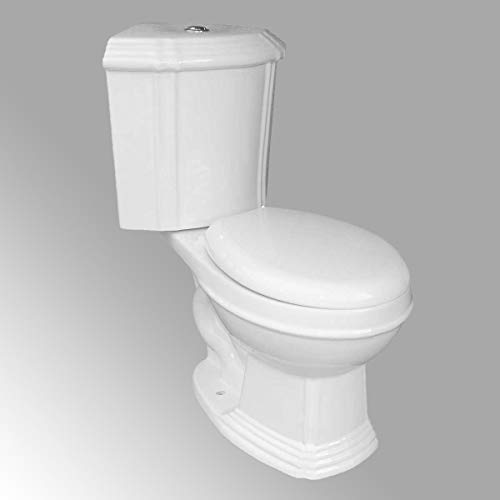 White Ceramic Round Space Saving Dual Flush Corner Toilet Renovator's Supply