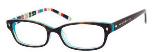 Kate Spade Lucyann Eyeglasses-0X77 Tortoise Aqua - Spade Kate Eye