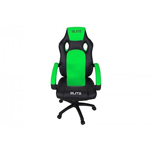 Oficina de y Gaming silla Elite MG - 100 piel sintética verschidene Colores, color Schwarz-Neongrün: Amazon.es: Oficina y papelería