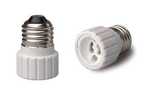 Halica 10pcs Fire proof PBT lamp base E26 to GU10 adapter converter CE & RoHS holder adapter GU10 to E26 lamp holder
