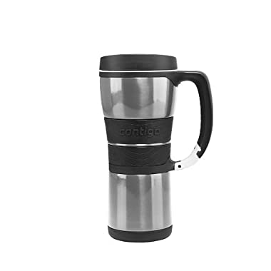 Contigo Extreme Stainless Steel Travel Mug with Handle (Vacuum Insulated)  16 ounce  Silver