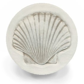 (Nautical Tropical Imports Set of 4 Scallop Shells Super Absorbent Stoneware Coasters)