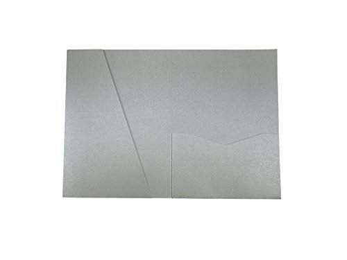 - Silver A7.5 Card Cover Pocket Invitation 5 1/8