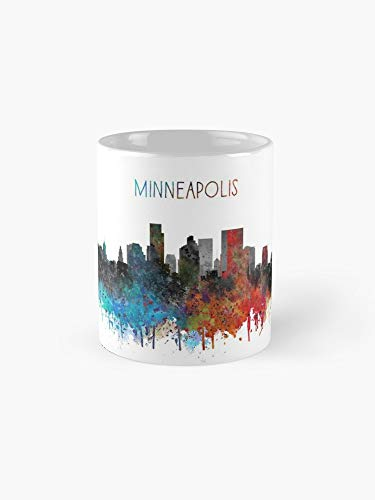 Minneapolis, Minneapolis skyline 11oz Mug - Great gift for family and friends.