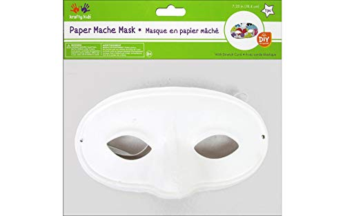 Multicraft MULKC260.C DIY Paper Mache Mask with Band Classic -