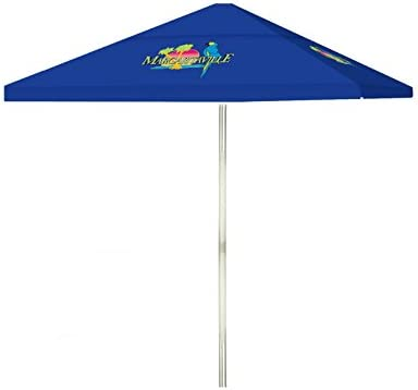 Best of Times 1020W2308 Margaritaville 8 ft Tall Square Market Umbrella, One Size, Blue