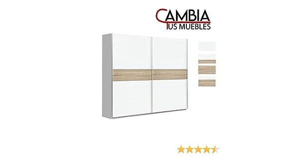 CAMBIA TUS MUEBLES - Armario Puerta corredera Winter, Armario ropero de 200 X 210 cm Armario Dormitorio, Blanco: Amazon.es: Hogar