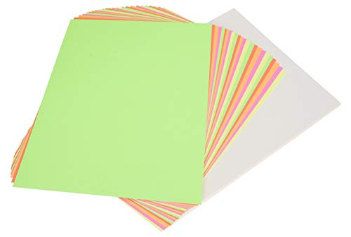 Paper Poster Board (School Smart Poster Board, 11 x 14 Inches, White/Assorted Neon Color, Pack of 50)