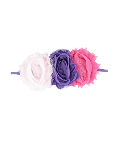 Bubby & Belle Infant Floral Rosette Headband - Purple - One (Bella Rosette)