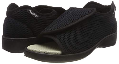 – Adulto Abville Collo Basso Pantofole schwarz 7325010 Unisex A Podowell Y0RqdwY