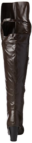 SHOEVIBE Women's Lexy Over The Knee Boot, Brown, 11 M US