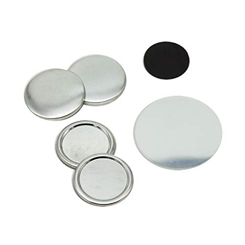 (ChiButtons 32mm Rubber Magnet parts Round (100sets) Metric System)
