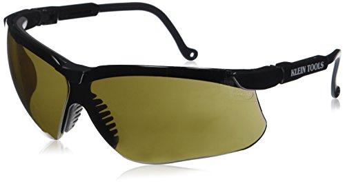 Klein Tools 60055 Protective Eyewear, Black Frame with Brown