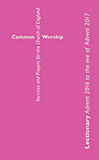 Common Worship Lectionary 2016-2017 (Common Worship: Services and Prayers for the Church of England)