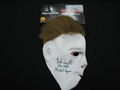 NICK CASTLE Signed Michael Myers Latex MASK Autograph Halloween The Shape Michael -