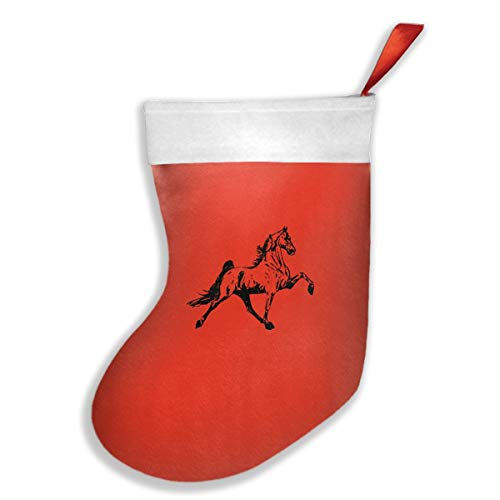 Tennessee Walking Horse Christmas Stocking, Kids Classic Style Santa Snowman Stocking
