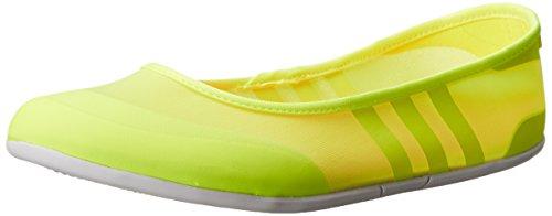 adidas NEO Women's Sunlina W Slip-On Ballet Flat, Solar Yellow/Yellow/Pink, 9.5 M US