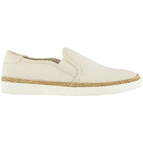 Vionic Womens Sunny Rae Canvas Ivory Shoes 9 US