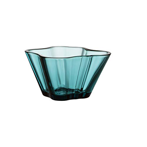 "Iittala Alvar Aalto Glass Bowl 3"" Sea Blue"