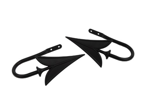 Rod Desyne Arrow Holdback Pair for Windows, Black (Finial Arrow)