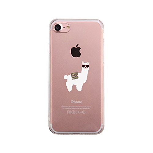 365 Printing Llamas Sunglasses-Left Cute Matching Clear Phone Case For iPhone - Sunglasses 365