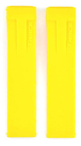 ZTD212 21mm T-Race T048 Yellow Rubber Silicone for Tissot Replacement Watch Band Strap Free Spring BAR Tool TST107 (T Race Yellow)