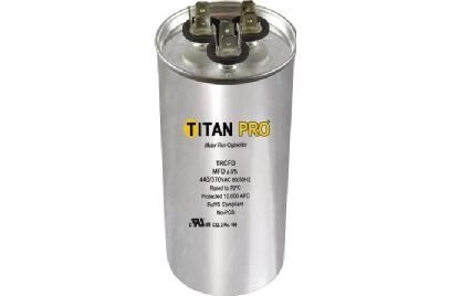 Titan TRCFD405 Dual Rated Motor Run Capacitor Round MFD 40/5 Volts 440/370 by TITAN PRO