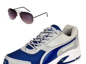 puma adamo grey & blue shoe