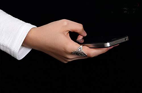 anello in acciaio INOX regolabile per donne eleganti Daily decorazione e Dating Itemer fiore rattan anello argento anelli
