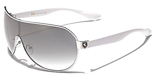 Mens Flat Top Sport Shied Aviator Sunglasses - Multiple Colors (Mens Fashion Sunglasses)