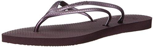 Havaianas Women's Tria Sandal Flip Flop, Aubergine, 37 BR/7/8 W - Purple Havaianas