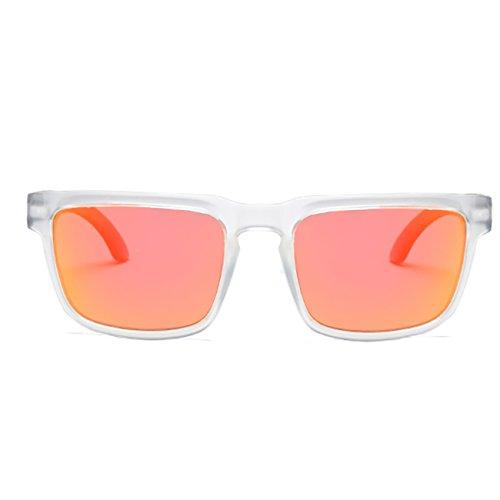 Gafas Mujer Polarizadas sol Hombre D710 de Deportes JULI Moda Blanco Rojo 0F5qBxtx