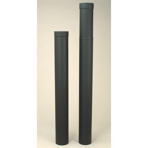 "HeatFab 2606B Black SAF-T Pipe 6"" x 38"" - 70"" Telescoping Pipe Length"