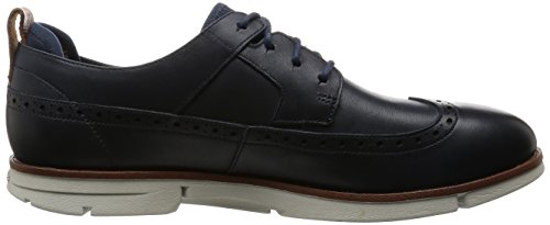 Navy Trigen Uomo Clarks Limit Blu Leather Stringate Scarpe TwYaq