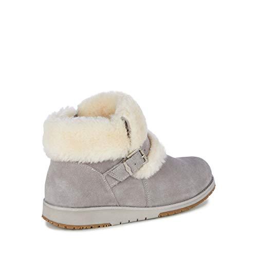 Australia Grey Oxley Deluxe Wool Cuff Boots Dove Womens EMU Fur zwqx76dzE
