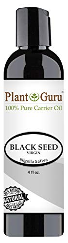 Black Seed Oil 4 oz Virgin, Unrefined Cold Pressed Cumin 100% Pure Natural - Skin, Body and Hair. Great For Eczema