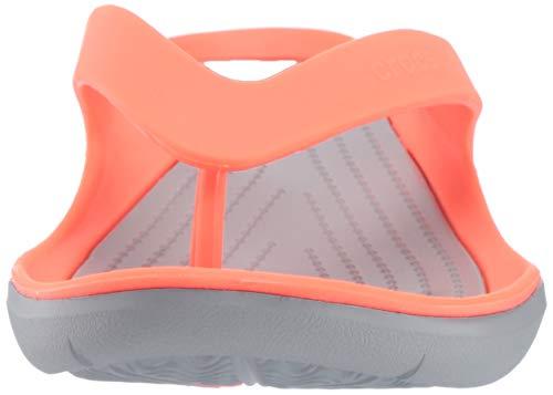 Para bright Mujer Coral Women Crocs 6pk Grey Naranja Flip Chanclas light Swiftwater w4AnIqp