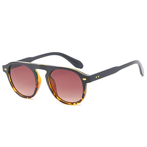 - AOOFFIV Vintage Round Sunglasses for Women and Men Retro Style Inspired Design Shades with Acetate frames (Tortoise shell Frame Brown Lens)
