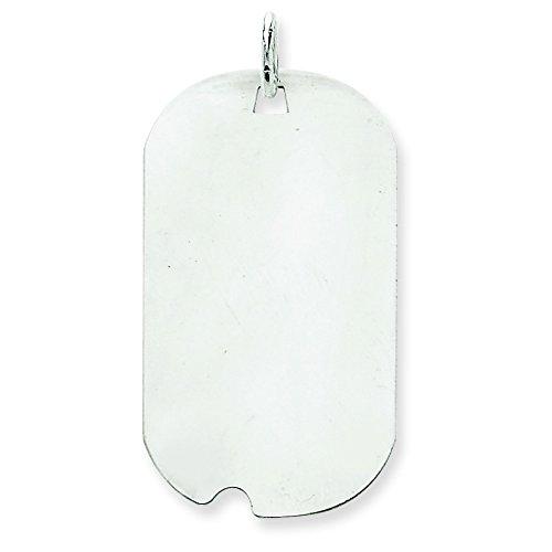 Or blanc 14 carats-Dog Tag-JewelryWeb disque charme
