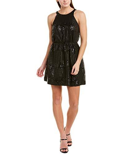Ali & Jay Women's Striped Sequin Dress, Black Bubbly Mini, XS