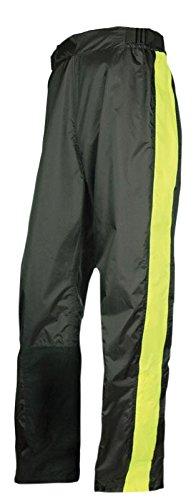 Olympia Moto Sports MP215 Horizon Rain Pant (Black/Neon Yellow, XXX-Large/4X-Large)