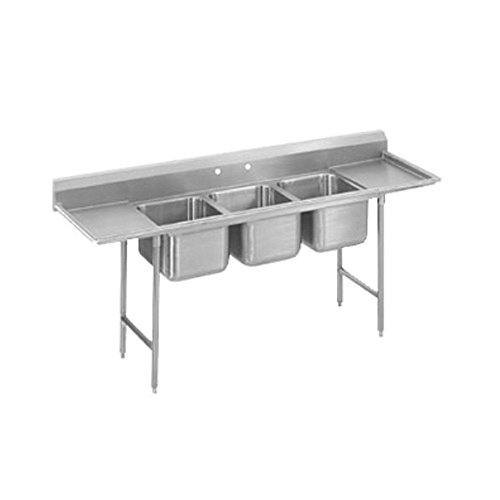 """Advance Tabco T9-2-36-18RL 16"""" 2 Compartment Sink"""