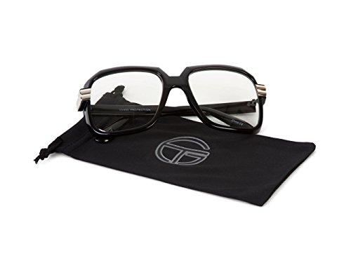 Gravity Shades 80s Rapper Retro Clear Glasses with Black Microfiber - Retro Rapper