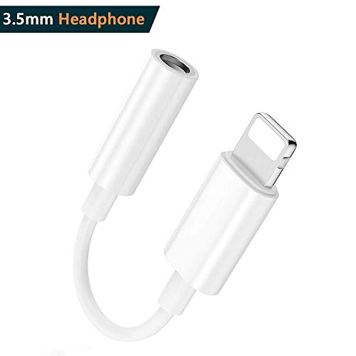 Dongle Adapter L Jack to 3.5mm Compatible iPhone Adapter dongle iPhone XR/XS/XS MAX/8/X Headphone Adapter.