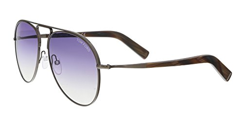 - Tom Ford Cody Oversized Gradiant Aviator Sunglasses Gray O/S