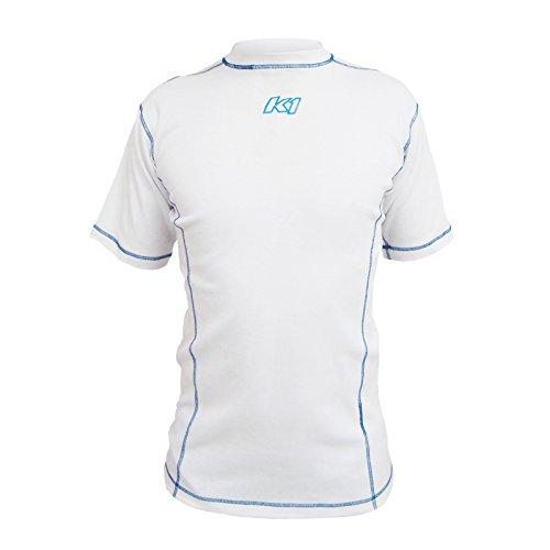 (K1 Race Gear Coolmax Vented Under Garment T-Shirt (White, Large))